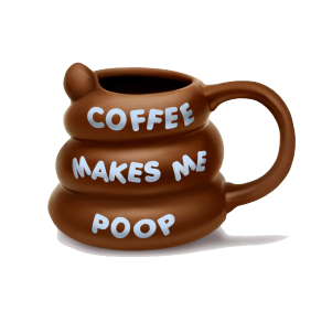 Coffee Makes Me Poop Mug product photo