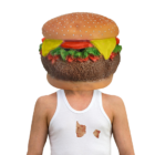 Cheeseburger Head Mask product photo