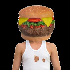 Cheeseburger Head Mask product photo
