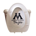 Ministry Of Magic Toilet Decal product photo