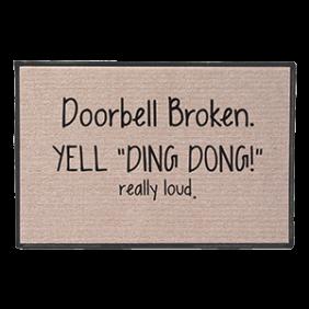 Ding Dong Door Mat product photo