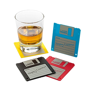 Floppy Disk Drink Coasters product photo